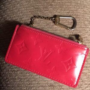 LV Cles Key pink monogram vernis
